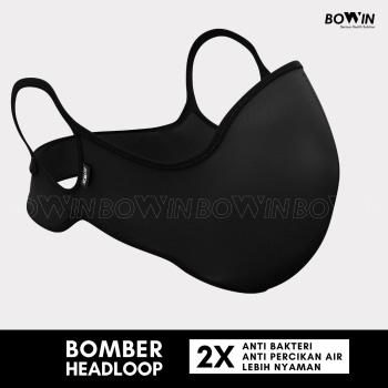 BOWIN Masker Bomber Headloop 4ply Anti PolusiDebuVirusPartikel Black 1