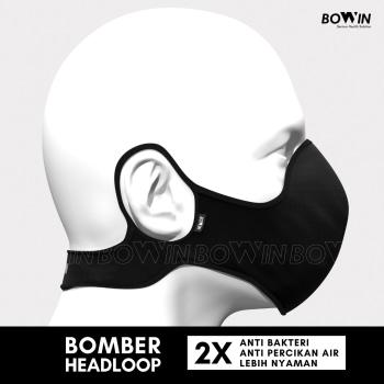 BOWIN Masker Bomber Headloop 4ply Anti PolusiDebuVirusPartikel Black 2