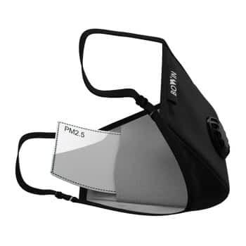 BOWIN Masker Filter N99 CV Washable Solid Black 2
