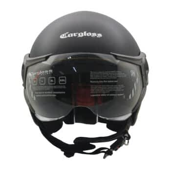 CARGLOSS YR HC Gothic Helm Half Face Deep Black SG L 2