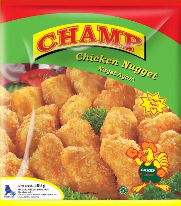 champ chicken nugget 500